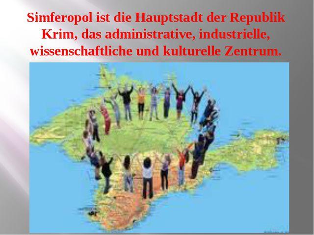 Simferopol ist die Hauptstadt der Republik Krim, das administrative, industr...