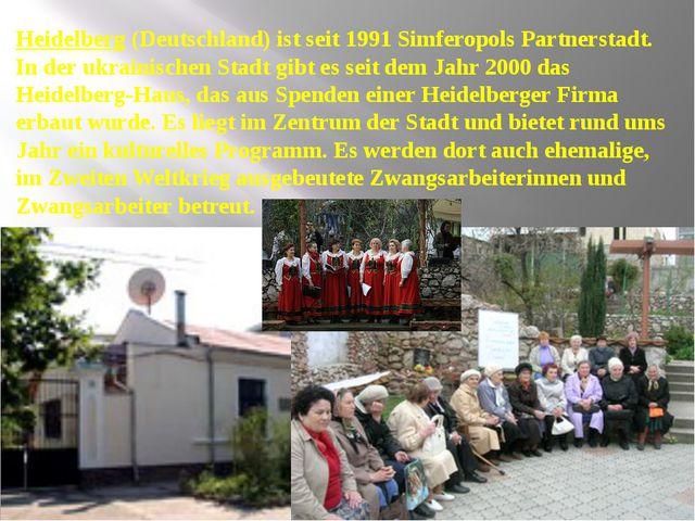 Heidelberg (Deutschland) ist seit 1991 Simferopols Partnerstadt. In der ukra...