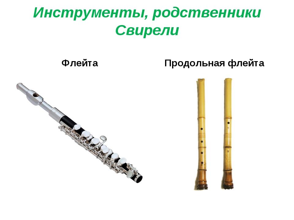 Инструменты, родственники Свирели Флейта Продольная флейта