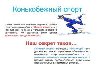 Коньки являются главным оружием любого спортсмена-конькобежца. Лезвие конька