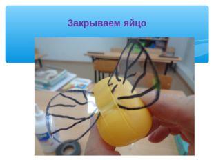 Закрываем яйцо