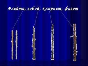 Флейта, гобой, кларнет, фагот