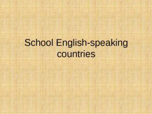 School English-speaking countries