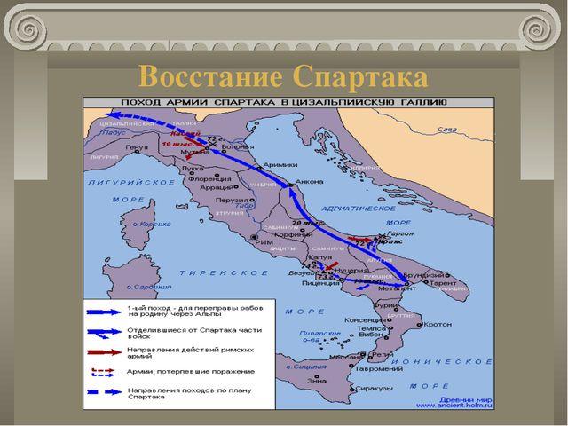 Восстание Спартака Усилившееся в связи с ростом крупного землевладения и рабо...