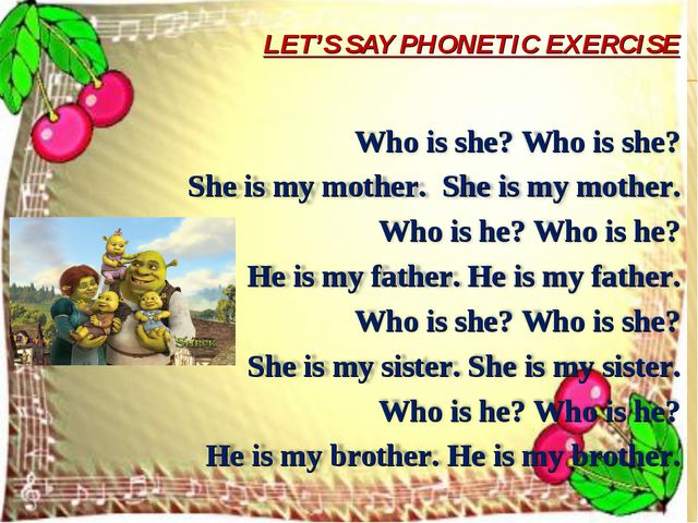 LET'S SAY PHONETIC EXERCISE