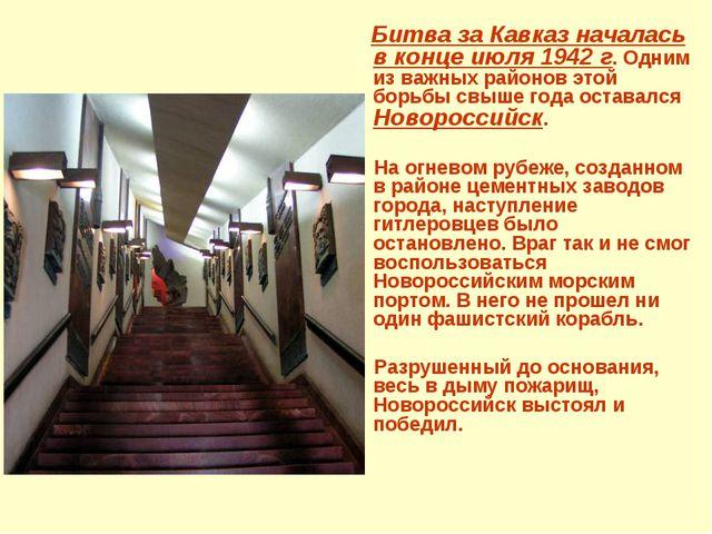 Битва за Кавказ началась в конце июля 1942 г. Одним из важных районов этой б...