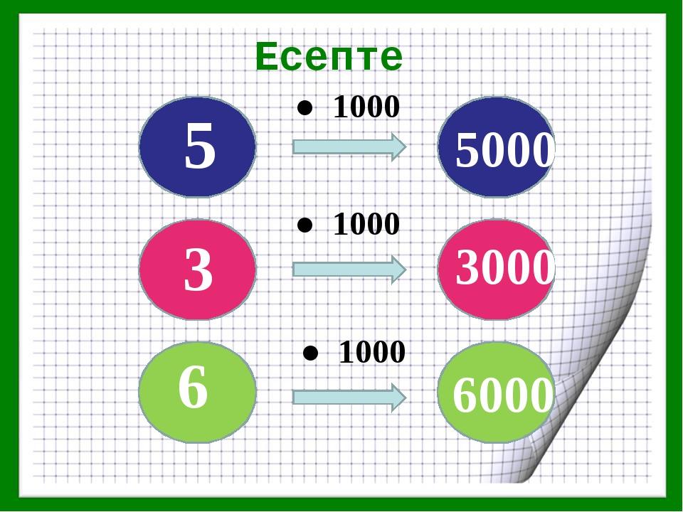 Есепте ● 1000 ● 1000 ● 1000 6 3 5 5000 3000 6000