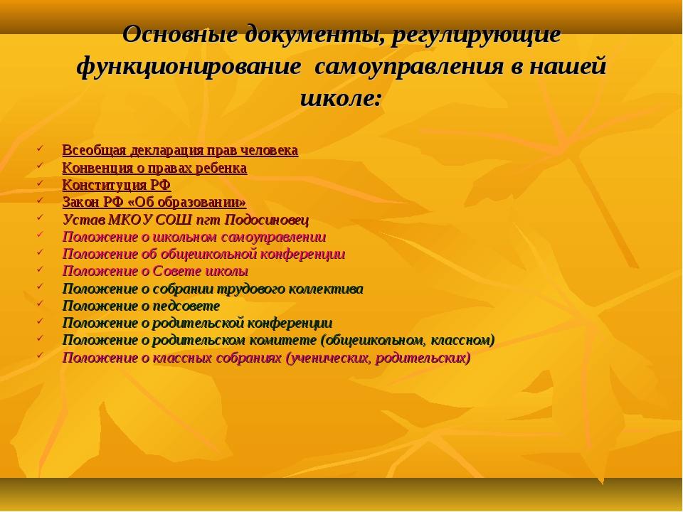 Всеобщая декларация прав человека Конвенция о правах ребенка Конституция РФ З...