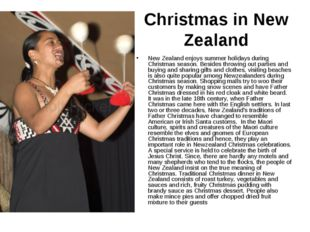 Christmas in New Zealand New Zealand enjoys summer holidays during Christmas