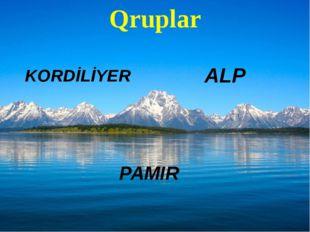 Qruplar KORDİLİYER PAMIR ALP