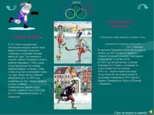 Хоккей с шайбой. В ХV1 веке в предместьях Амстердама нередко можно было виде