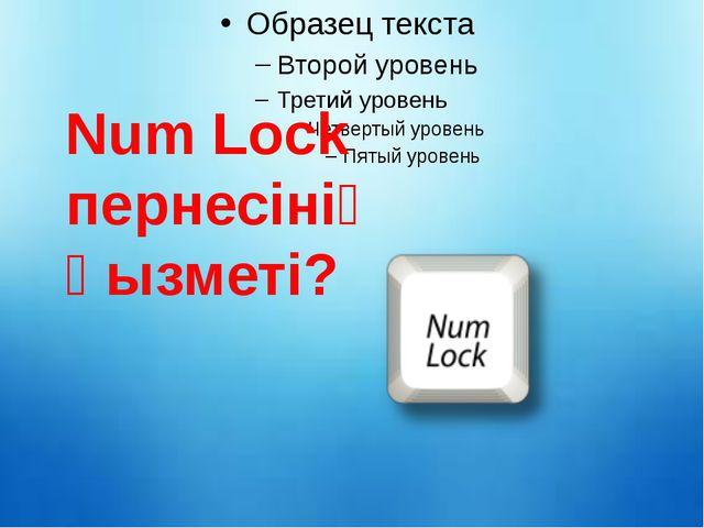 Num Lock пернесінің қызметі?