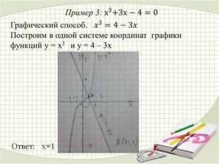 Ответ: х=1