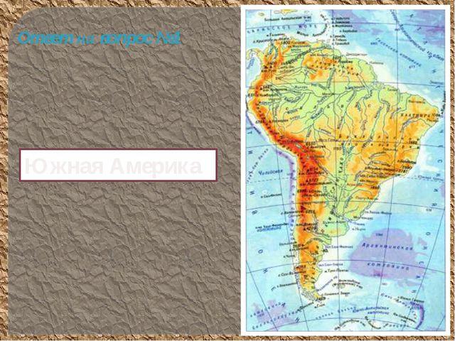 Южная Америка Ответ на вопрос №1