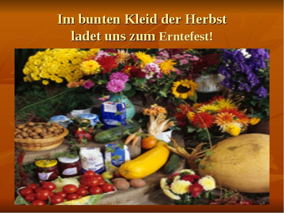 Im bunten Kleid der Herbst ladet uns zum Erntefest!