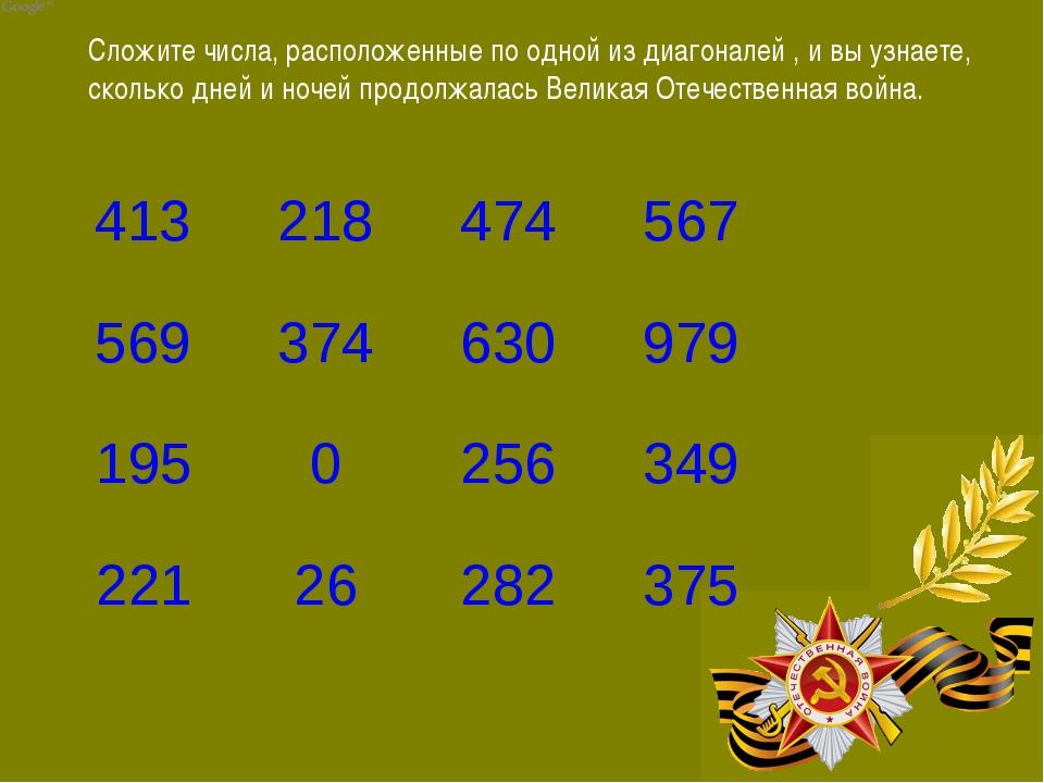 Сложите числа, расположенные по одной из диагоналей , и вы узнаете, сколько д...