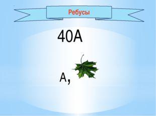 40А А, Ребусы