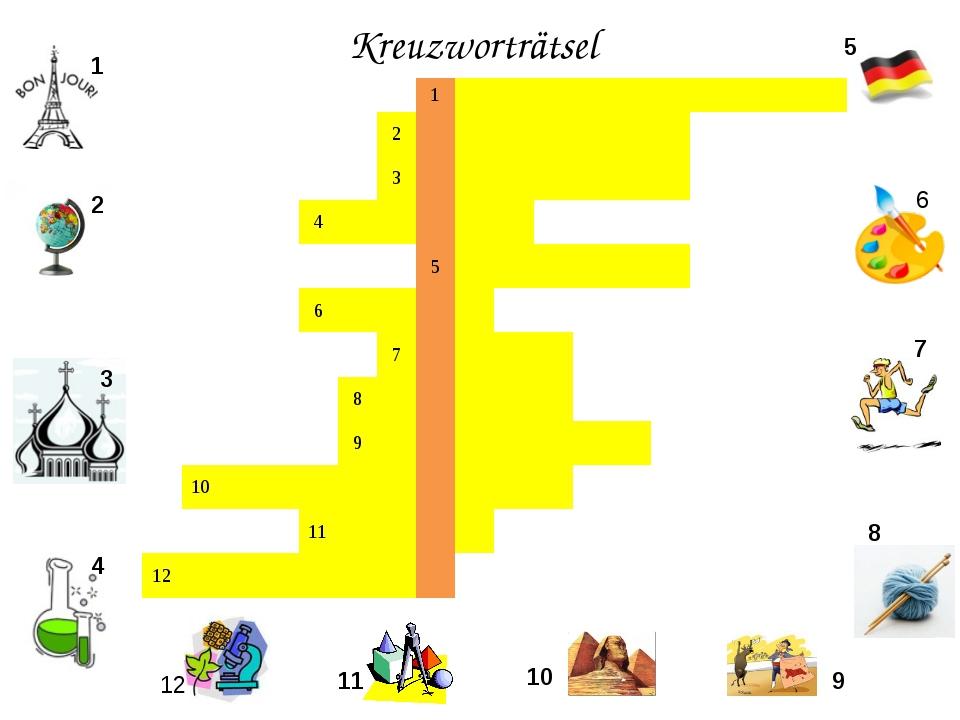 Kreuzworträtsel 1 2 3 4 5 6 7 8 9 10 11 12 1 2...