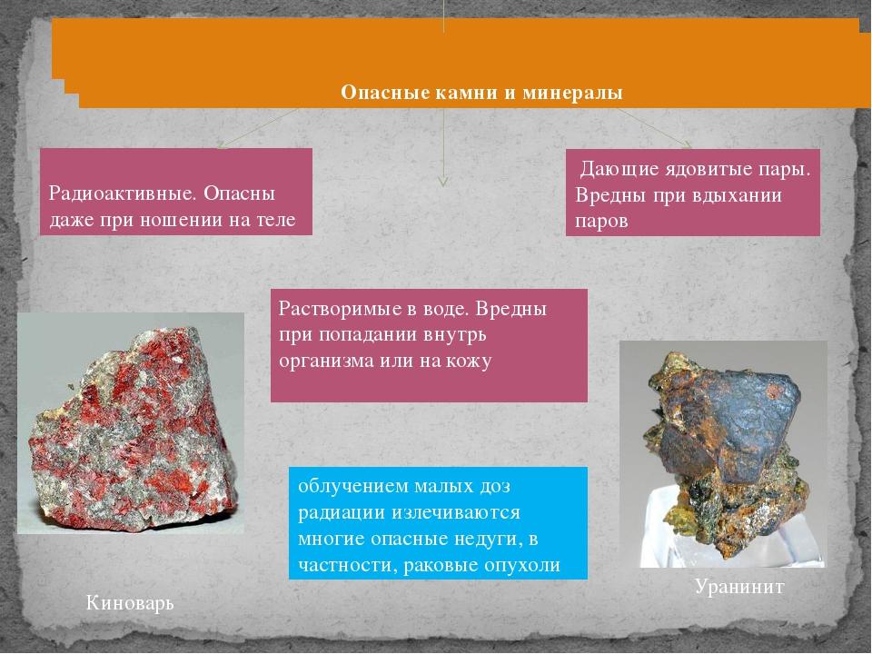 Опасные камни и минералы Киноварь облучением малых доз радиации излечиваютс...