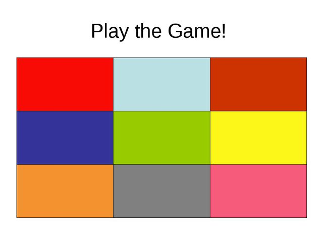 Play the Game!