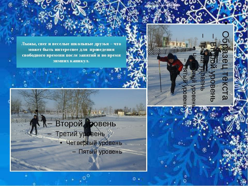 Лыжы, снег и веселые школьные друзья – что может быть интереснее для проведен...