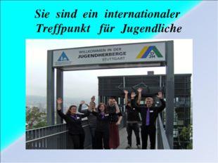 Sie sind ein internationaler Treffpunkt für Jugendliche
