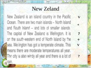 New Zeland V ? + ? + V