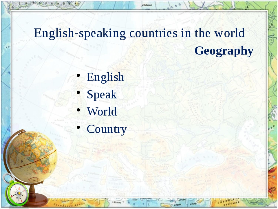 English-speaking countries in the world English Speak World Country Geography