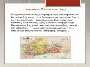 Годонимика Ростова - на - Дону. Исторически сложилось так, что при проектиров