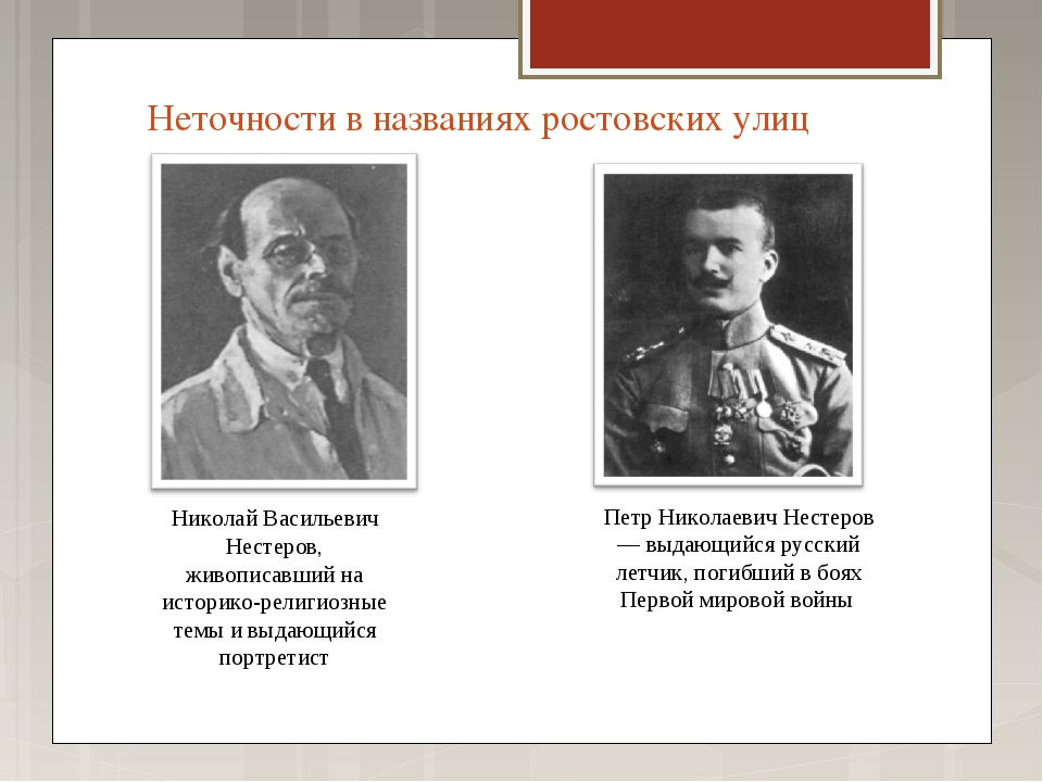 Неточности в названиях ростовских улиц Николай Васильевич Нестеров, живописав...