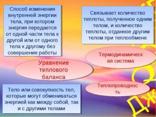 Способ изменения внутренней энергии тела, при котором энергия передается от о