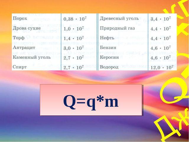 Q=q*m