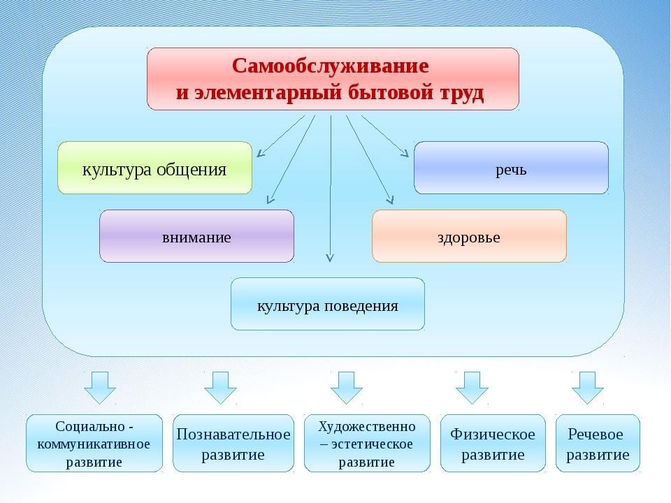 Самообслуживание и элементарный бытовой труд Социально - коммуникативное раз...