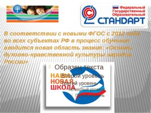 В соответствии с новыми ФГОС с 2012 года во всех субъектах РФ в процесс обуче