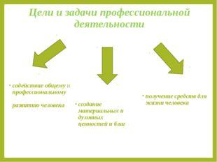 Цели и задачи профессиональной деятельности содействие общему и профессиональ