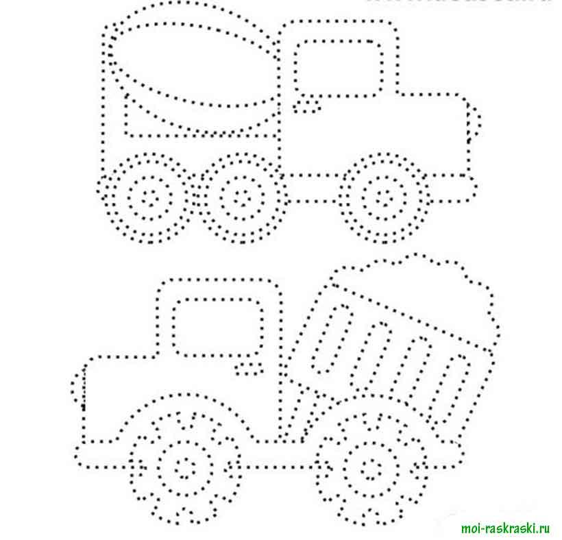 Раскраска по точкам для детей 5-6 лет