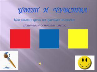 Как влияет цвет на чувства человека Вспомним основные цвета