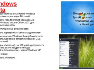Windows Vista операционная системасемействаWindows NT&nbsp