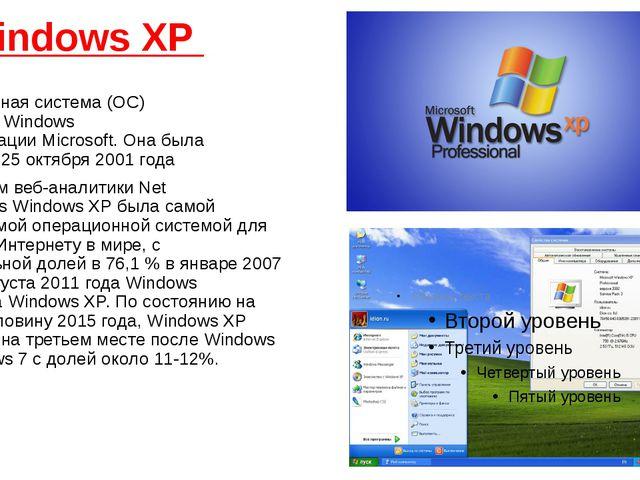 Windows XP операционная система(ОС) семействаWindows NT&nb...