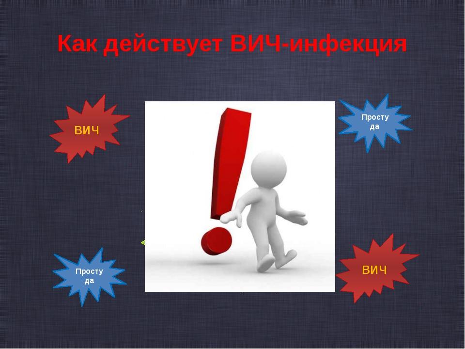 Как действует ВИЧ-инфекция  Защита Защита Защита Защита Защита Простуда Прос...