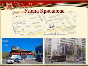 Улица Крисанова