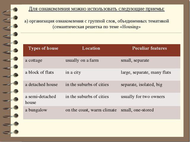Для ознакомления можно использовать следующие приемы: а) организация ознакомл...