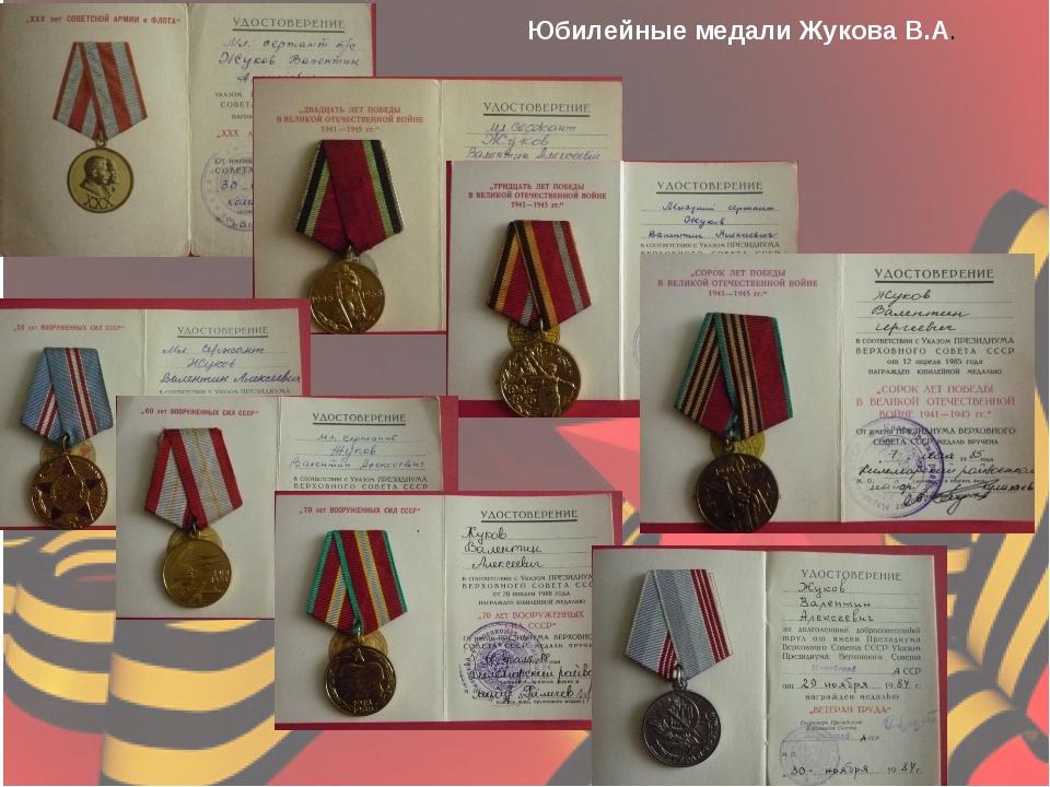 Юбилейные медали Жукова В.А.