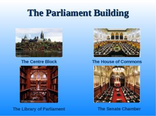 The Parliament Building The Centre Block The House of Commons The Senate Cham