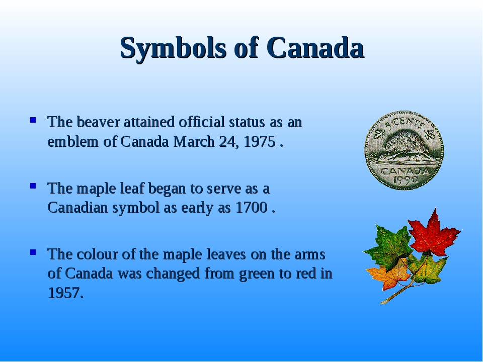 Symbols of Canada The beaver attained official status as an emblem of Canada...