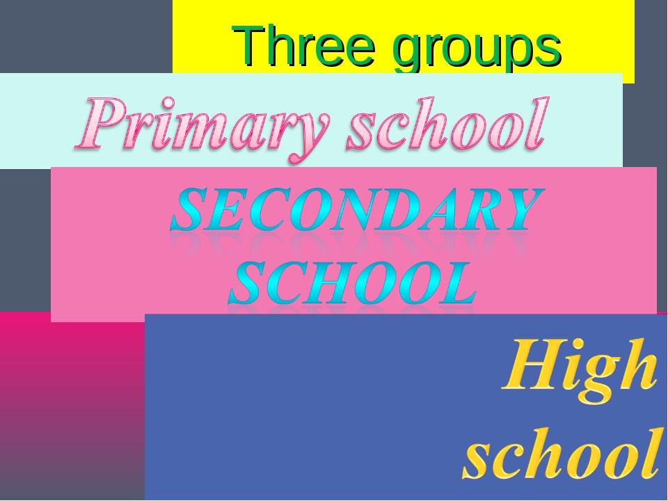 Three groups