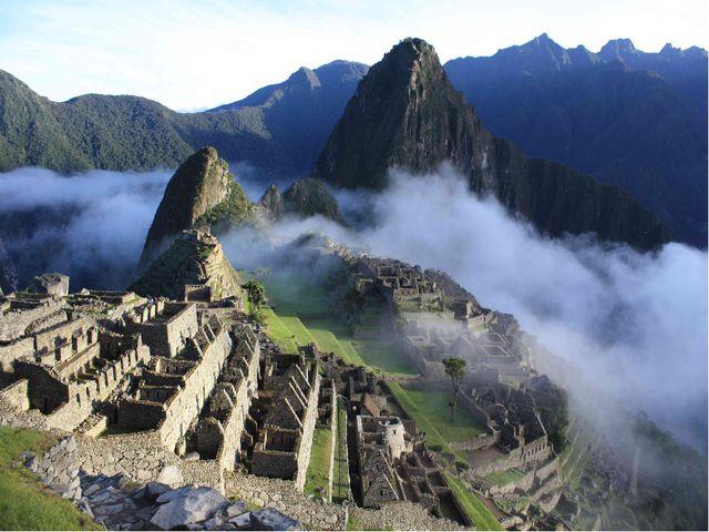 Город древних инков Мачу-Пикчу в Перу