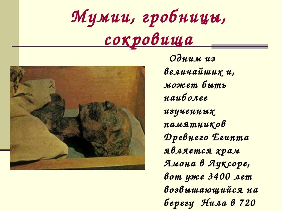 Мумии, гробницы, сокровища Одним из величайших и, может быть наиболее изученн...