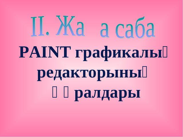 PAINT графикалық редакторының құралдары
