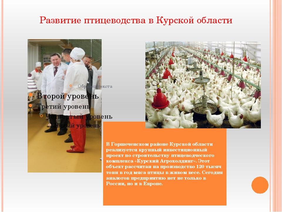 В Горшеченском районе Курской области реализуется крупный инвестиционный про...
